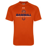 Under Armour Orange Tech Tee-Baseball Stencil