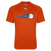 Under Armour Orange Tech Tee-Sunbirds Volleyball w/ Flying Ball