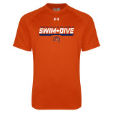 Under Armour Orange Tech Tee-Fresno Pacific University Swim & Dive Stencil