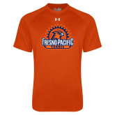 Under Armour Orange Tech Tee-Fresno Pacific Tennis