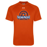 Under Armour Orange Tech Tee-Fresno Pacific Track & Field