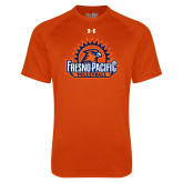 Under Armour Orange Tech Tee-Fresno Pacific Volleyball