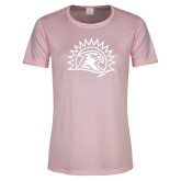 Ladies Performance Light Pink Tee-Sunbird Head