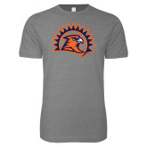 Next Level SoftStyle Heather Grey T Shirt-Sunbird Head