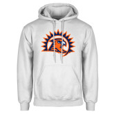 White Fleece Hoodie-Sunbird Head