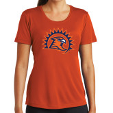 Ladies Performance Orange Tee-Sunbird Head