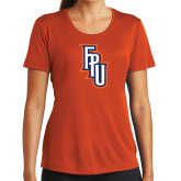 Ladies Performance Orange Tee-Angled FPU