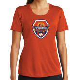 Ladies Performance Orange Tee-Sunbirds Soccer Shield