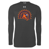 Under Armour Carbon Heather Long Sleeve Tech Tee-Sunbird Head