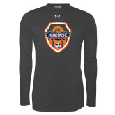 Under Armour Carbon Heather Long Sleeve Tech Tee-Sunbirds Soccer Shield