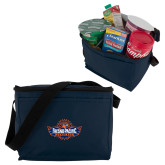 Six Pack Navy Cooler-Official Logo