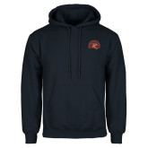 Navy Fleece Hoodie-Sunbird Head