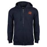 Navy Fleece Full Zip Hoodie-Sunbird Head