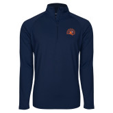 Sport Wick Stretch Navy 1/2 Zip Pullover-Sunbird Head