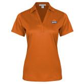 Ladies Orange Performance Fine Jacquard Polo-Official Logo