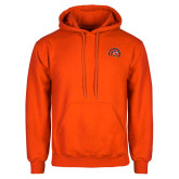 Orange Fleece Hoodie-Sunbird Head