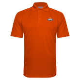 Orange Textured Saddle Shoulder Polo-Official Logo