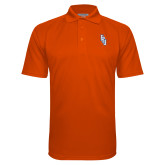 Orange Textured Saddle Shoulder Polo-Angled FPU