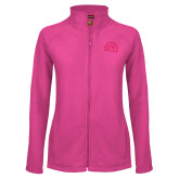 Ladies Fleece Full Zip Raspberry Jacket-Sunbird Head