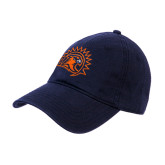 Navy Twill Unstructured Low Profile Hat-Sunbird Head