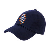 Navy Twill Unstructured Low Profile Hat-Angled FPU