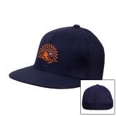 Navy OttoFlex Flat Bill Pro Style Hat-Sunbird Head