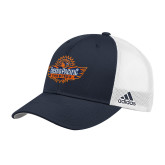 Adidas Navy Structured Adjustable Hat-Official Logo