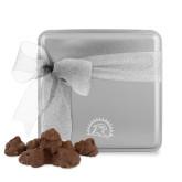 Decadent Chocolate Clusters Silver Medium Tin-Sunbird Head Engraved