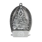 Pewter Tree Ornament-Sunbird Head Engraved