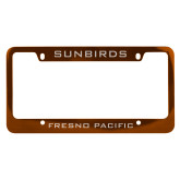 Metal Orange License Plate Frame-Sunbirds