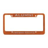 Alumni Metal Orange License Plate Frame-Alumni