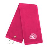 Pink Raspberry Golf Towel-Sunbird Head