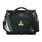 Slope Black/Grey Compu Messenger Bag-Barons - Franciscan University - Official Logo