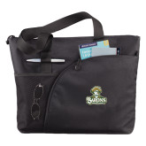 Excel Black Sport Utility Tote-Barons - Franciscan University - Official Logo