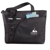 Excel Black Sport Utility Tote-Franciscan University Mark