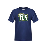 Youth Navy T Shirt-FUS