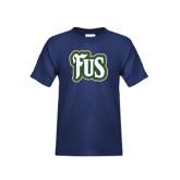 Youth Navy T Shirt-FUS