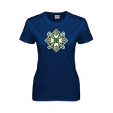 Ladies Navy T Shirt-Shield