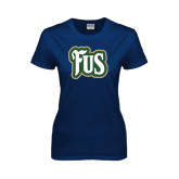 Ladies Navy T Shirt-FUS