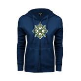 ENZA Ladies Navy Fleece Full Zip Hoodie-Shield