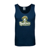 Navy Tank Top-Barons - Franciscan University - Official Logo