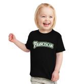 Toddler Black T Shirt-Arched Franciscan