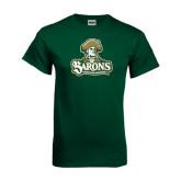 Dark Green T Shirt-Barons - Franciscan University - Official Logo