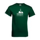 Dark Green T Shirt-Franciscan University Mark
