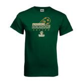 Dark Green T Shirt-Stacked Soccer Design