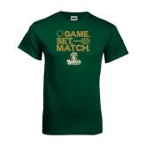 Dark Green T Shirt-Game. Set. Match. Tennis Design