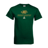 Dark Green T Shirt-Cross Country XC Design