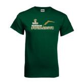 Dark Green T Shirt-Swim and Dive Diver Design