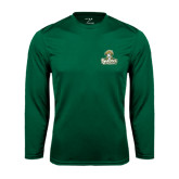 Performance Dark Green Longsleeve Shirt-Barons - Franciscan University - Official Logo
