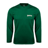 Performance Dark Green Longsleeve Shirt-Arched Franciscan